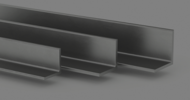 grouping of leg angle stainless steel beams