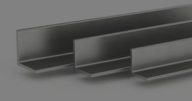 group of three unequal leg angle beams